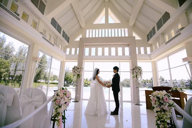 [Jiayou station] see. Romance our white hall wedding
